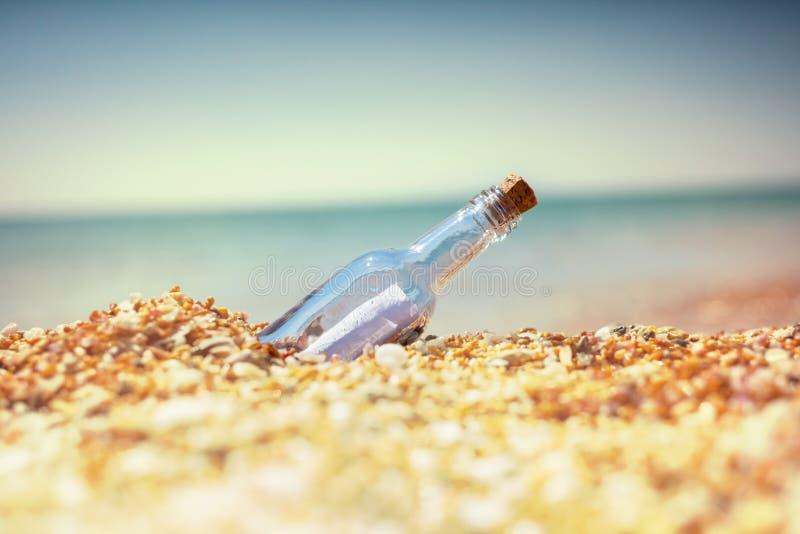 Bootle en la playa foto de archivo libre de regalías
