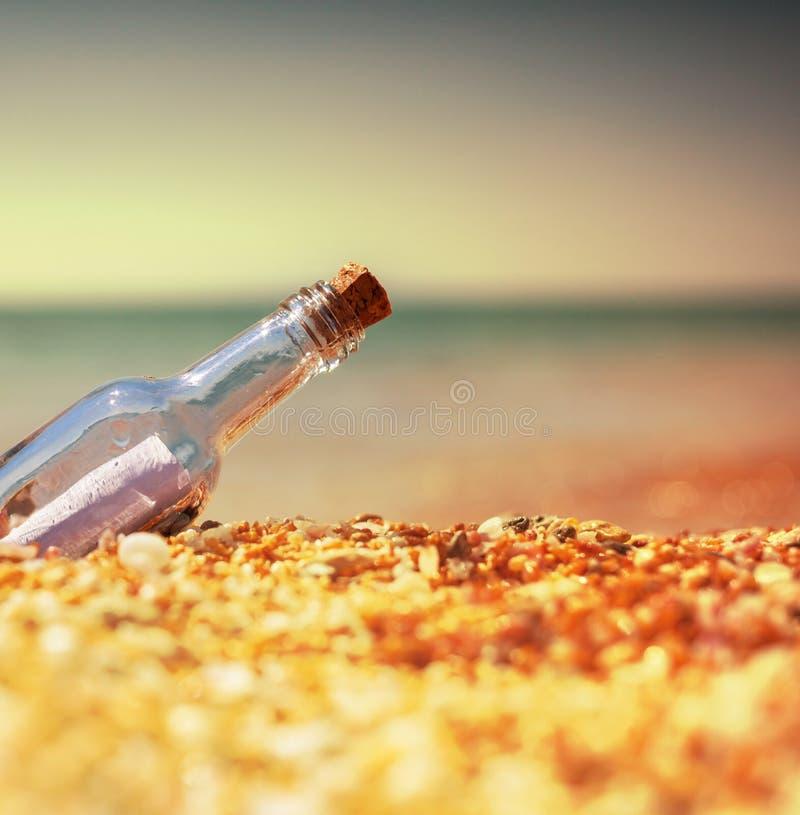 Bootle en la playa fotografía de archivo libre de regalías