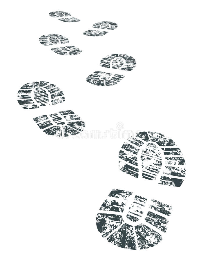 Bootprint del vector libre illustration