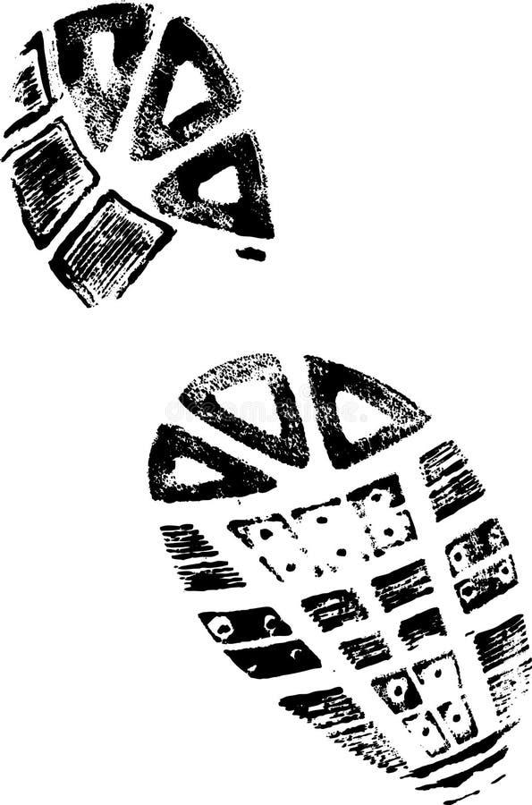 BootPrint di sinistra illustrazione di stock
