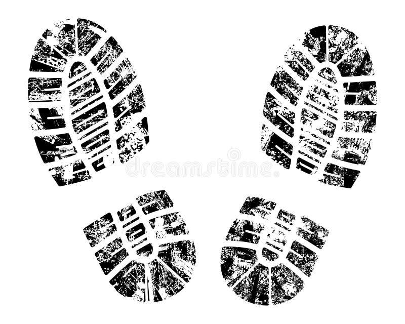 Bootprint di vettore illustrazione di stock