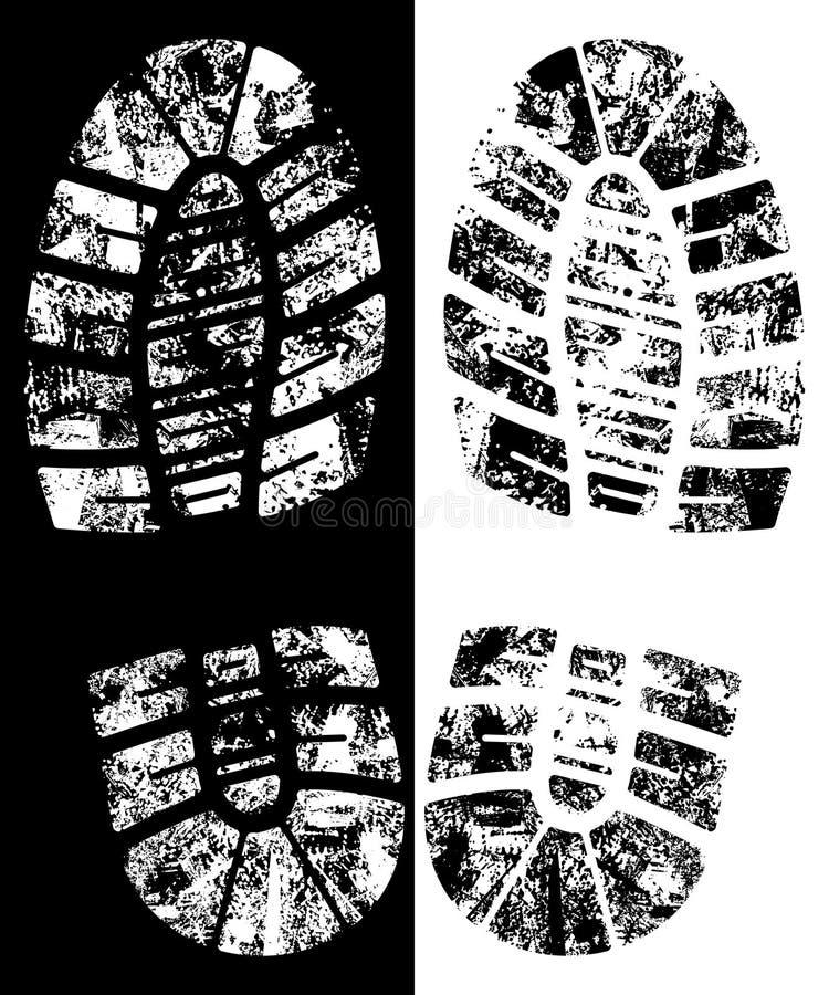Bootprint do vetor ilustração royalty free
