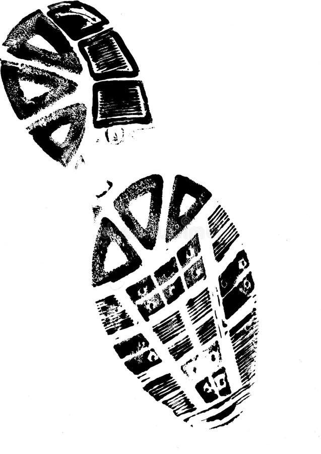 bootprinthöger sida stock illustrationer