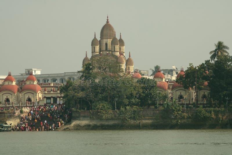 Bootrit op Rivier Ganges stock foto