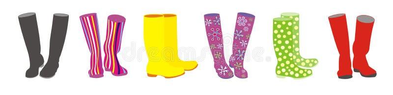 boots в стиле фанк иллюстрация вектора