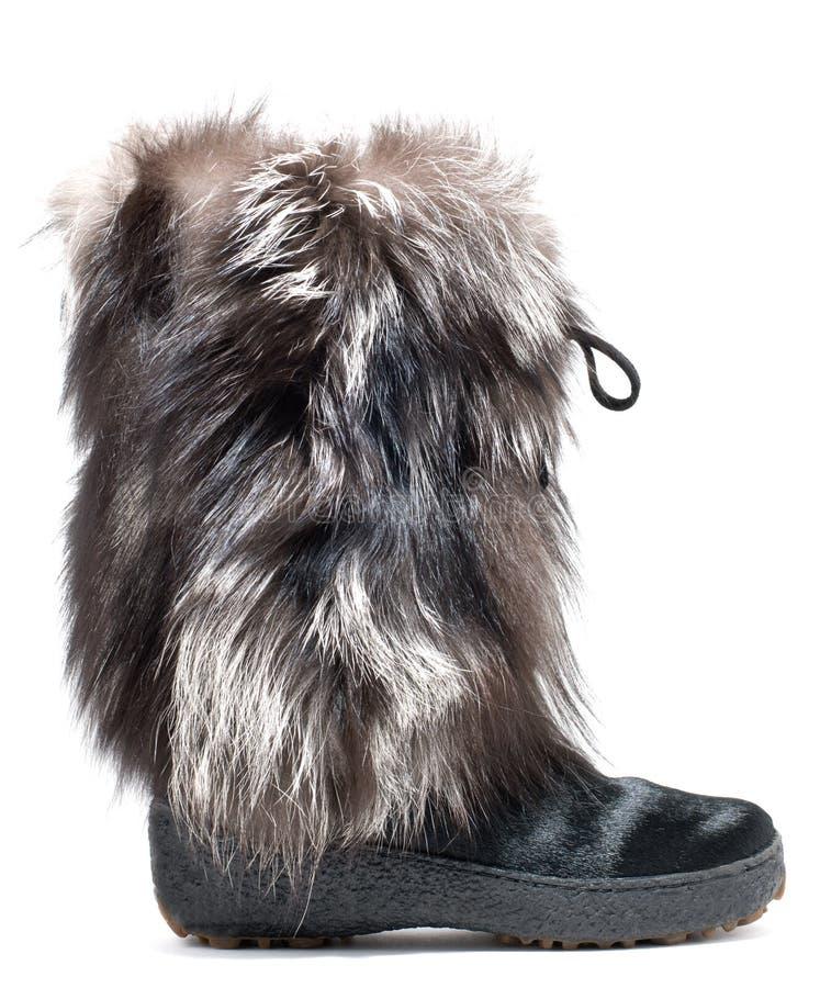 boots зима шерсти стоковое изображение rf