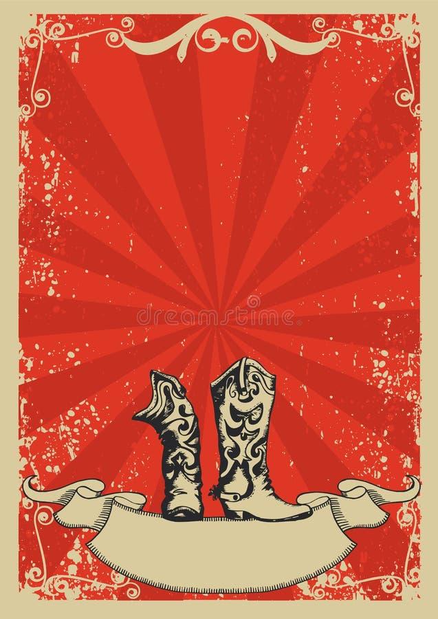 boots ковбой иллюстрация штока