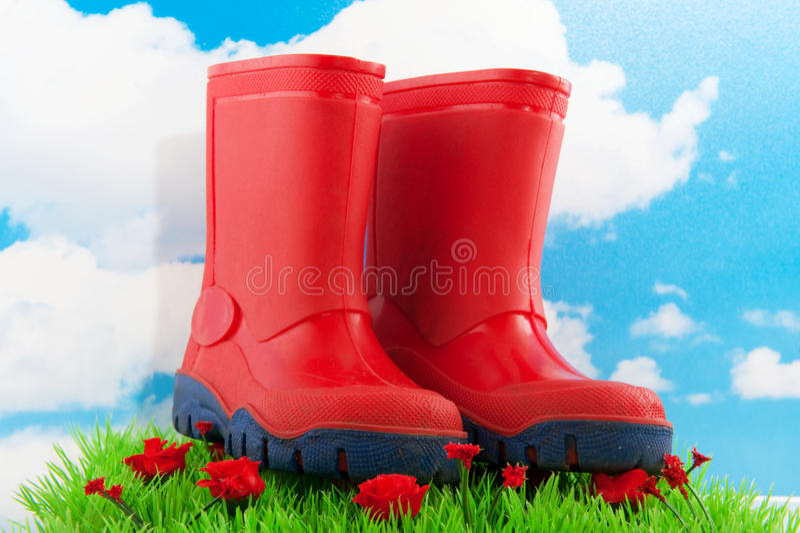 boots ребенок стоковые изображения