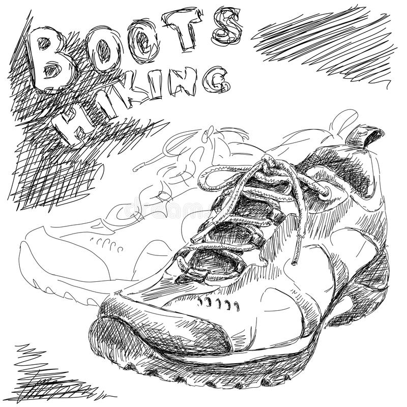 Boots royalty free illustration