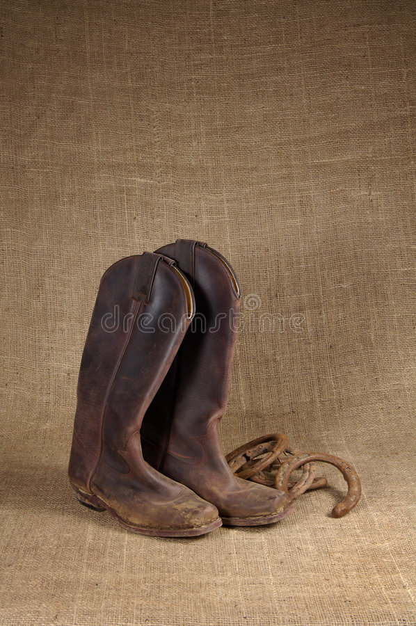 Free Boots And Horseshoes 1 Stock Photography - 383682