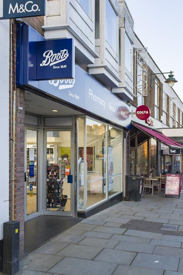 Boots apteka chemik Wielka Brytania fotografia stock