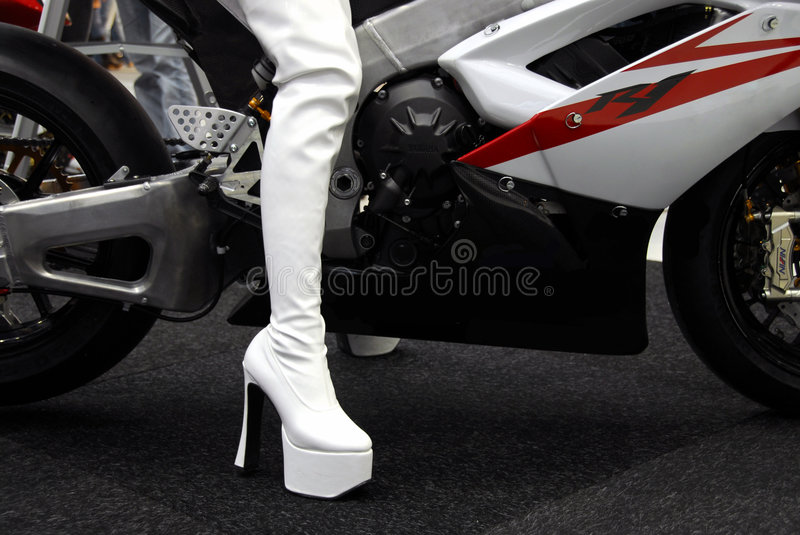 Boots and Bike royalty free stock images