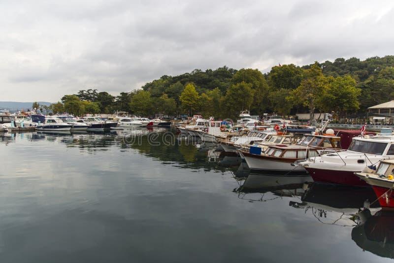 Boots-Hafen in Istanbul die Türkei lizenzfreie stockfotografie