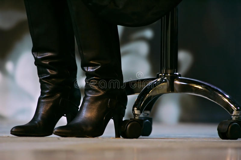 Download Boots and office chair stock photo. Image of heels leather - 45415846 : boot chair - Cheerinfomania.Com
