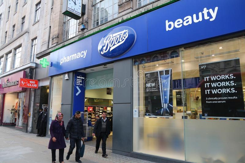 Boots pharmacy, Londres imagem de stock royalty free