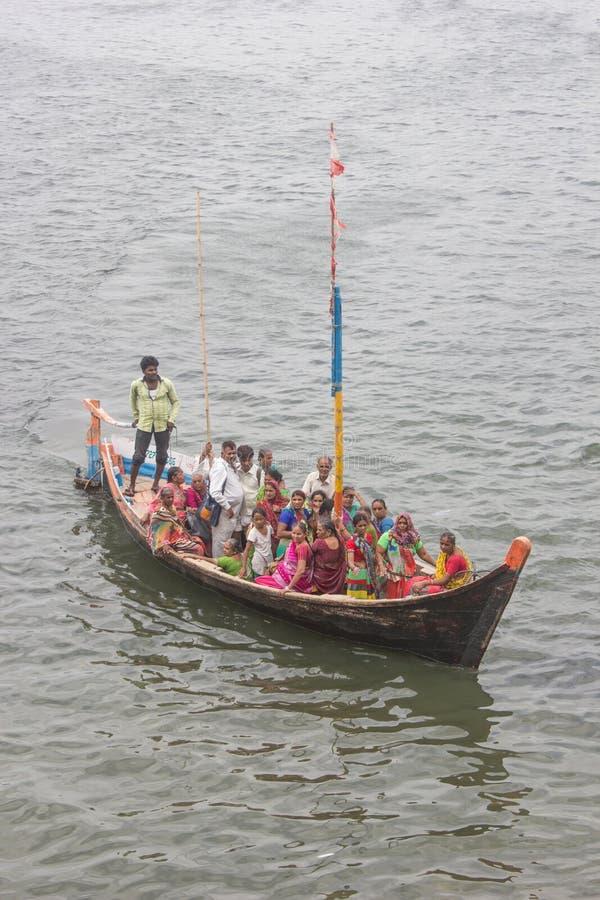 Boots-Reise Indien stockbilder