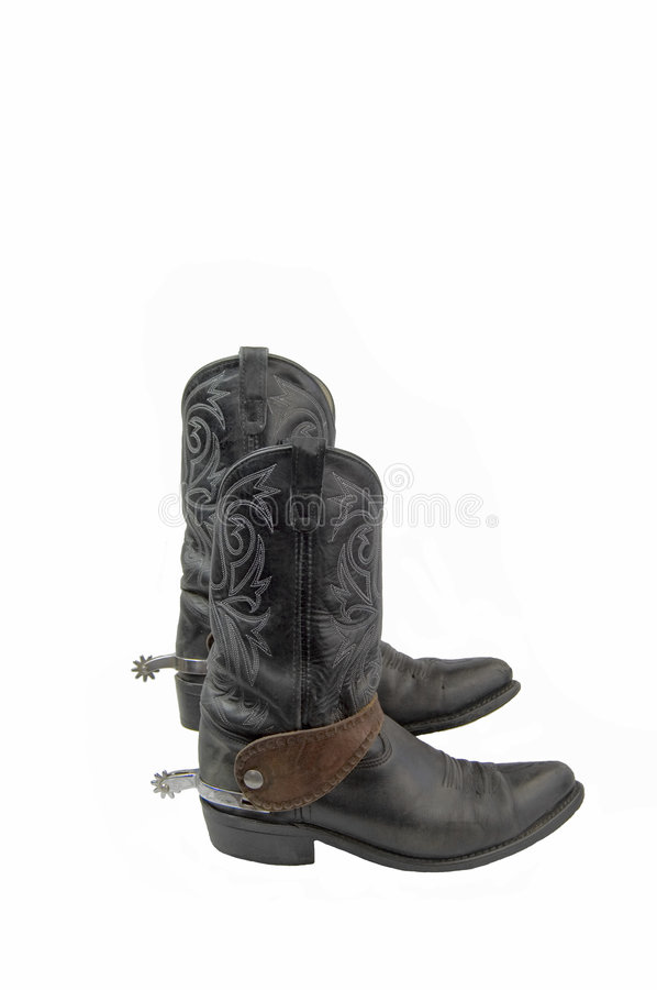 Boots with spurs royalty free stock images
