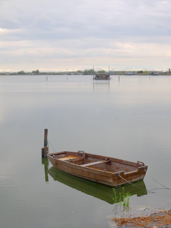 Boots- und Fischenhütten stockfoto