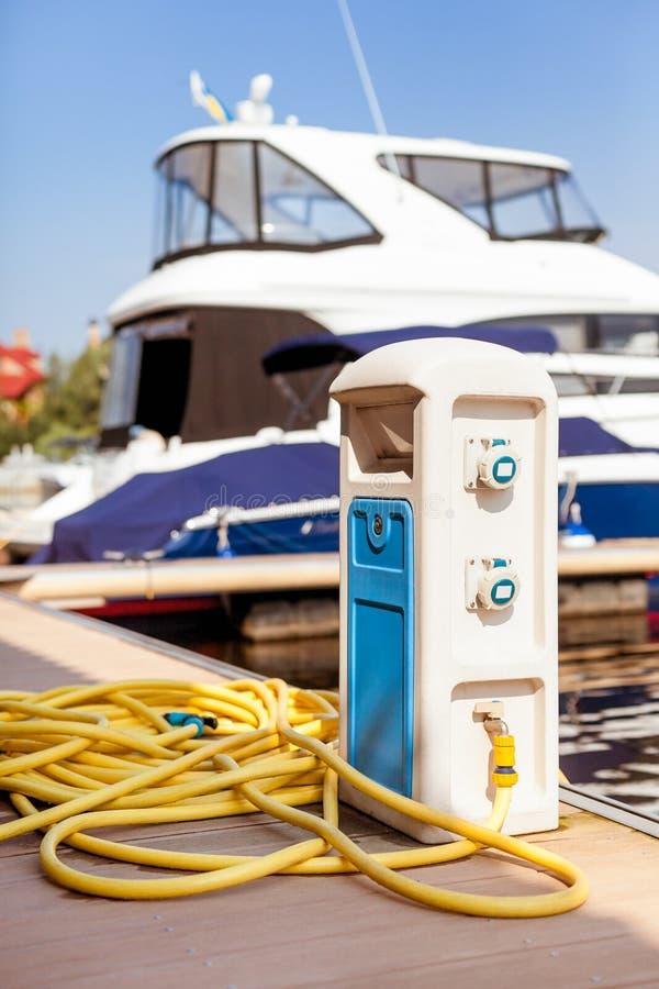 Boots- und Wasserversorgung stockbild