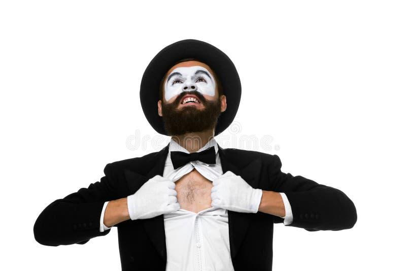 Boots weg als tearing zakenman zijn overhemd na stock foto's