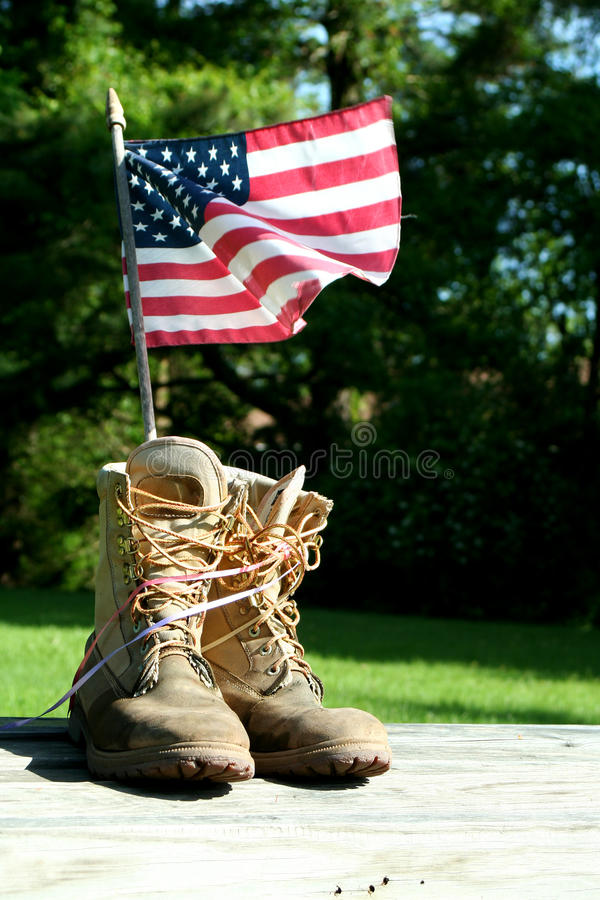Free Boots With US Flag Stock Photos - 14575003