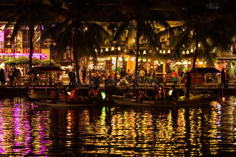 Bootsfahrt Hoi An in Vietnam lizenzfreies stockbild