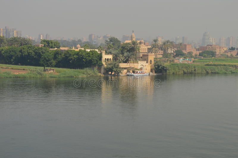 Bootshafen in Fluss Nil lizenzfreies stockbild