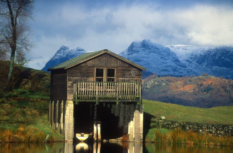 Bootshaus. See-Bezirk Cumbria Großbritannien lizenzfreie stockfotografie