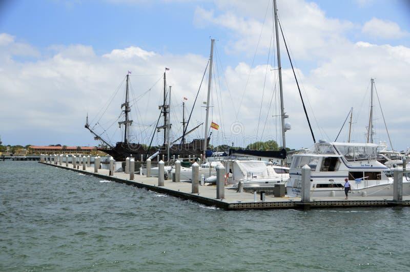 Bootsjachthafen, St Augustine, Florida stockbild