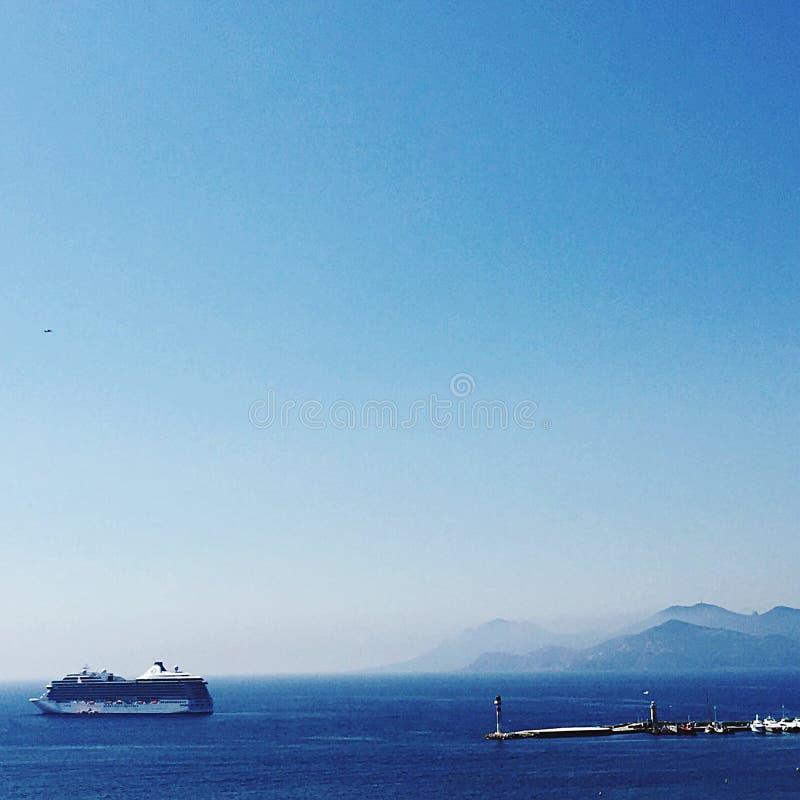 Bootskreuzfahrt im mediteranean von Cannes lizenzfreies stockfoto