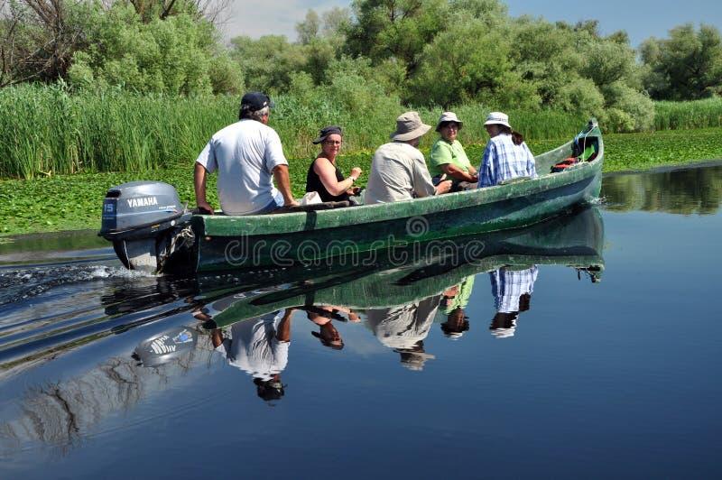 Bootsreise im Donau-Delta, Rumänien stockbilder