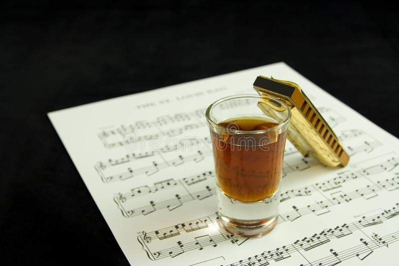 Booze and blues stock photos