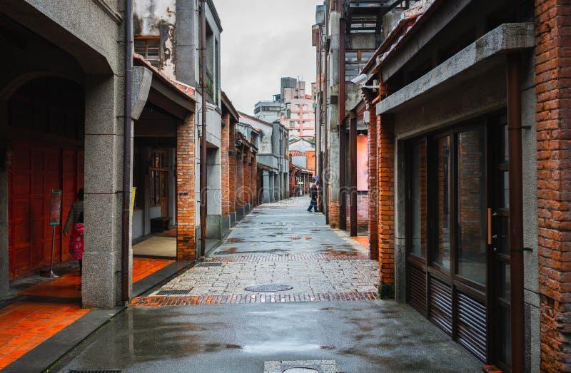 Bopiliao forntida gata i Taipei Taiwan royaltyfria bilder