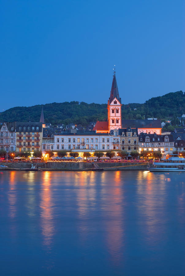Boppard, le Rhin, Allemagne images stock