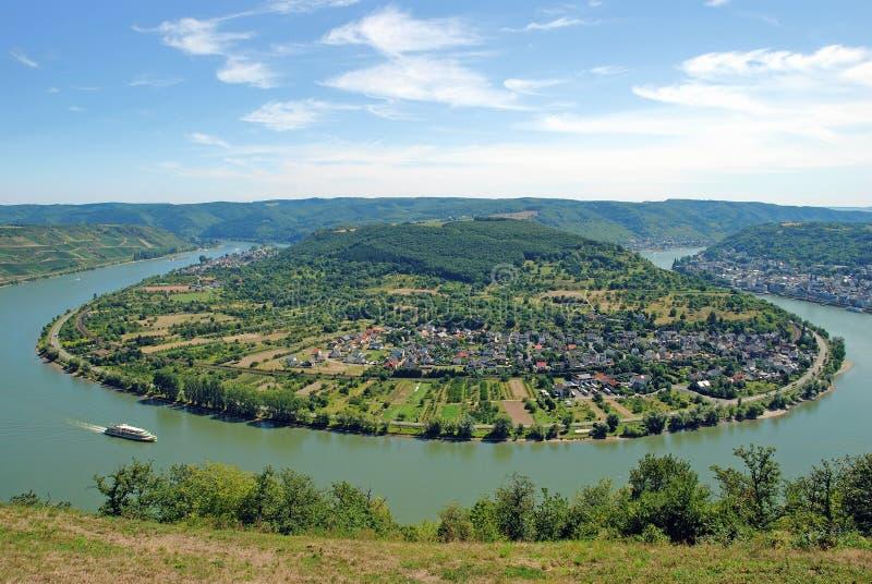 Boppard am Rhein, vale de Rhine, Alemanha imagem de stock