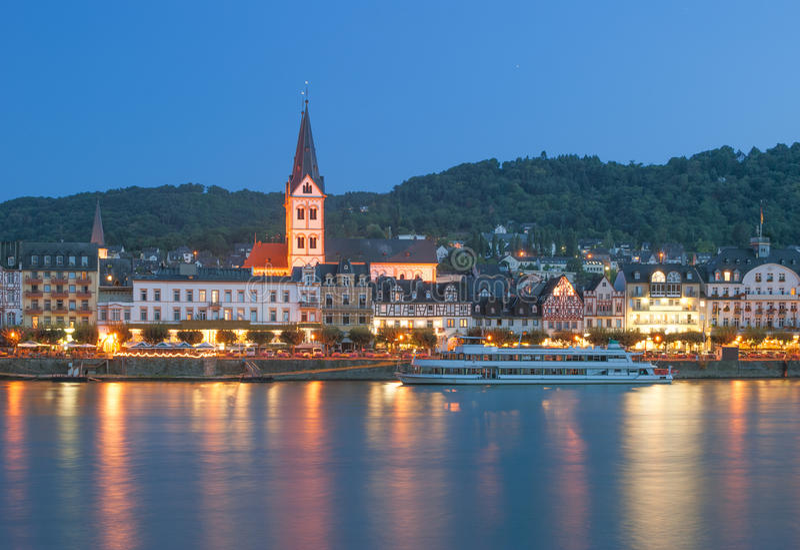 Boppard Rhine River, Tyskland royaltyfria bilder