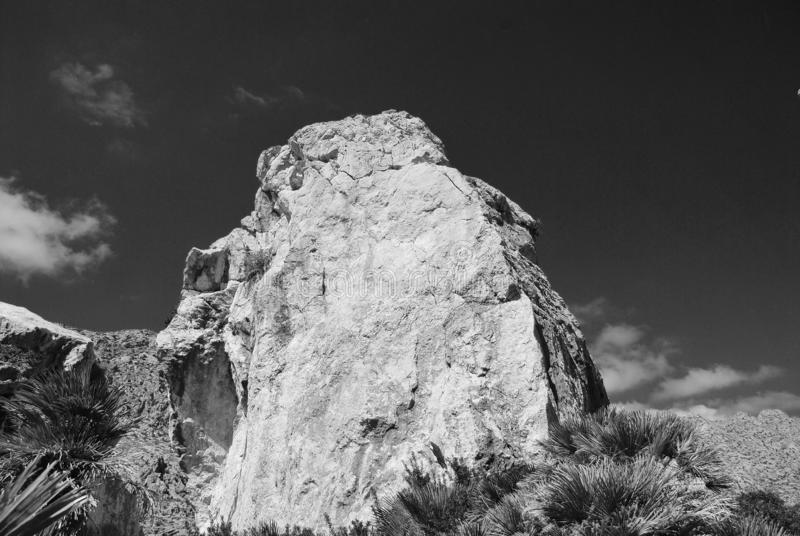 Boquer valley rocks, Majorca royalty free stock images