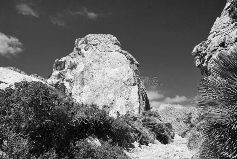Boquer valley trail, Majorca royalty free stock image