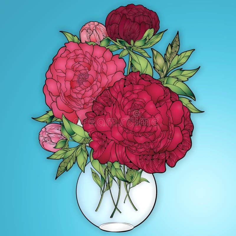 Boquet fresco en un florero fotografía de archivo libre de regalías