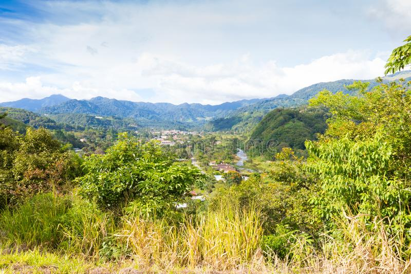 Boquete chiriquilandskap Panama royaltyfria foton