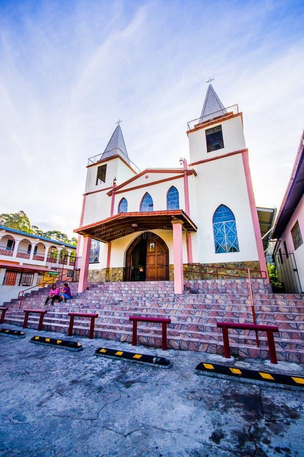 BOQUETE, PANAMA - 19 APRILE 2015: Boquete è a immagine stock libera da diritti