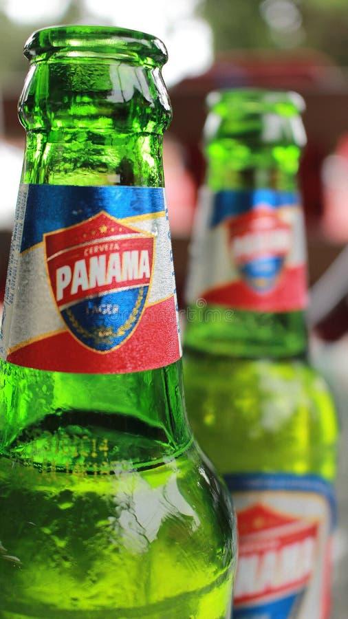 Boquete, Panama - Augustus, 8, 2014: Het bier Panama is de sterkste verkoper van het verkopersbier in het land stock foto