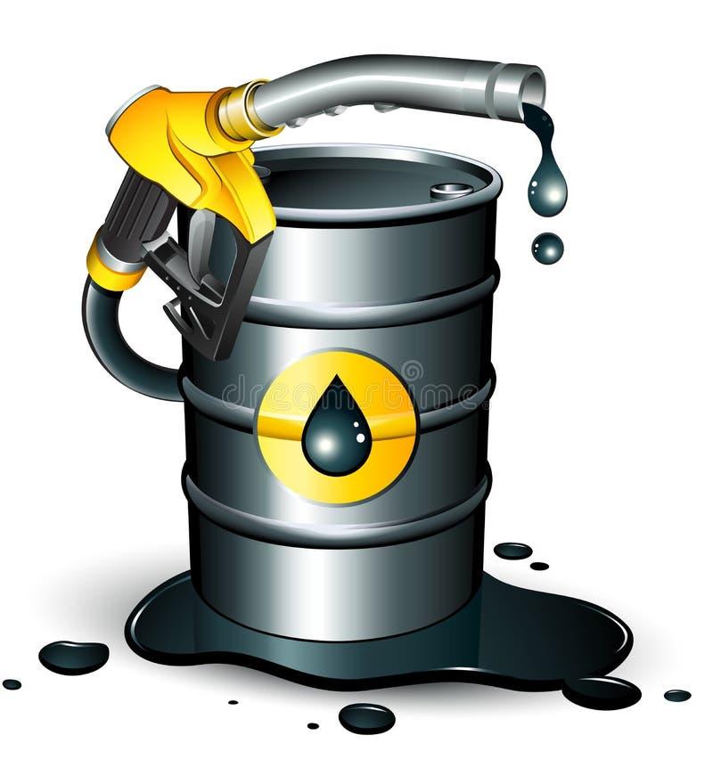 Boquilla de la bomba de gas stock de ilustración
