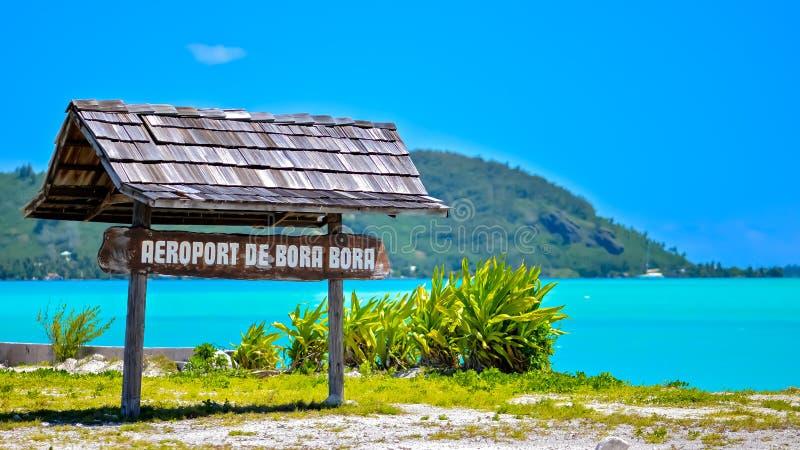 Bora Bora, aeroporto immagine stock libera da diritti
