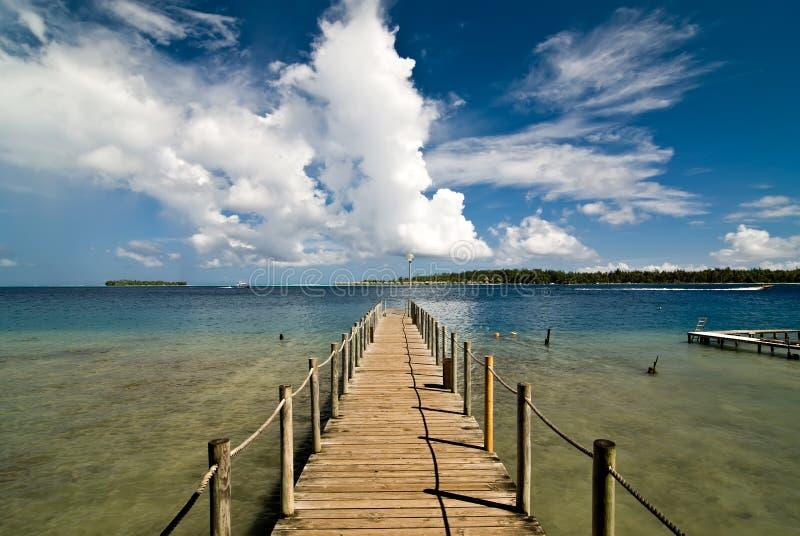 Bora Bora Ferry Pier stock photos