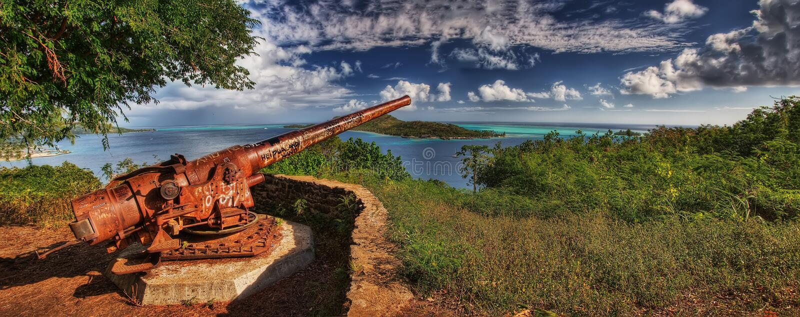 Bora Bora, French Polynesia. Taken in 2015 royalty free stock photo