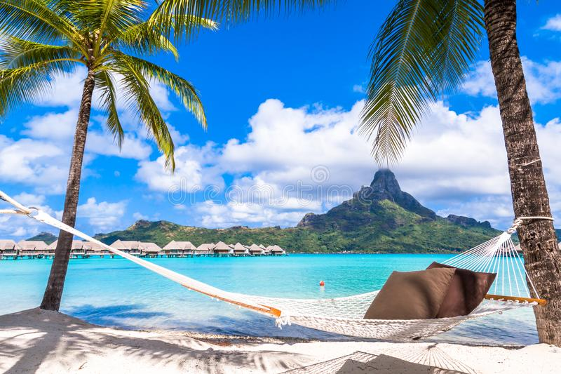 Bora Bora Island, French Polynesia. Paradise Beach stock photos