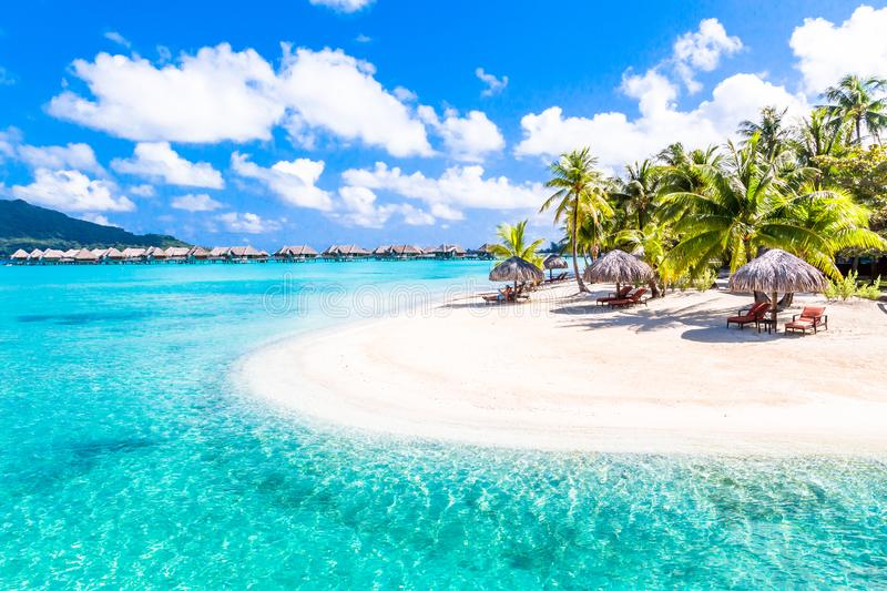 Bora Bora Island, French Polynesia. Paradise Beach royalty free stock images