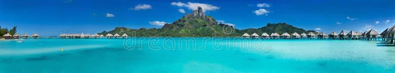 Bora Bora-panorama royalty-vrije stock afbeeldingen