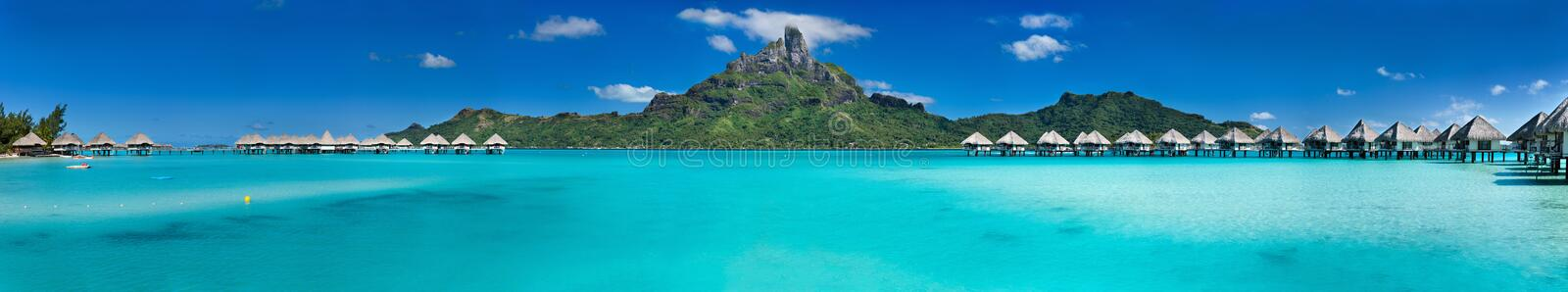 Download Bora Bora panorama stock image. Image of honeymoon, outdoor - 53056689